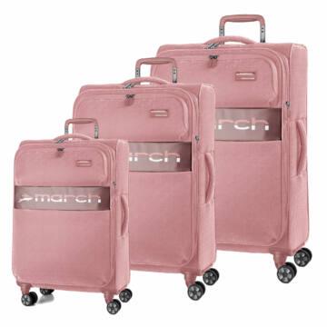 Mosaic Újrahasznosított Vászon Szett Bőrönd Pink