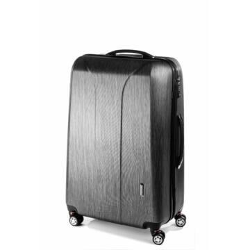 New Carat Közepes bőrönd black brushed