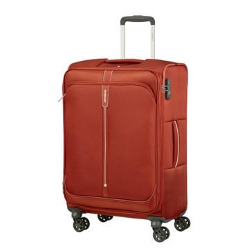 Samsonite Popsoda Bővíthető Közepes Vászon Bőrönd Barn Red