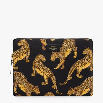 """Wouf Laptop Sleeve 15"""" Black Leopard"""