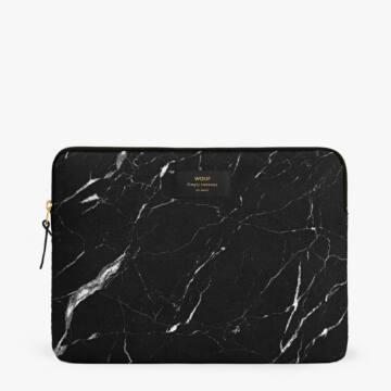 "Wouf Laptop Sleeve 15"" Black Marble"