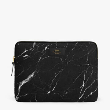 "Wouf Laptop Sleeve 13"" Black Marble"