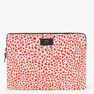 """Wouf Laptop Sleeve 13"""" White Hearts"""