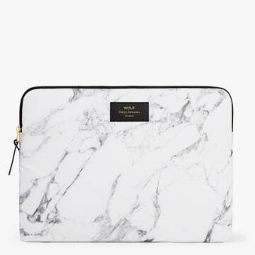 """Wouf Laptop Sleeve 13"""" White Marble"""