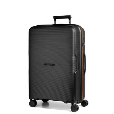 Bel Air Közepes bőrönd fekete