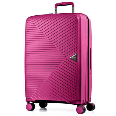 a9d15ed7db2b Gotthard Törhetetlen Nagy Bőrönd Pink - 4 kerekű