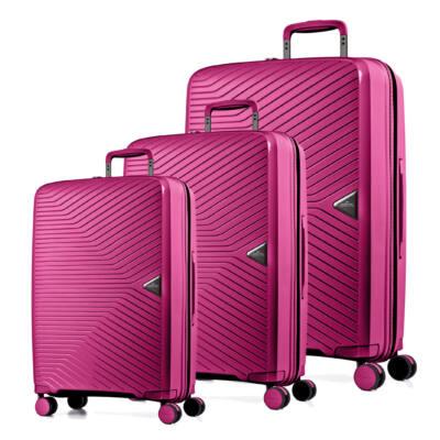 c918a563972c Gotthard Törhetetlen Szett Bőrönd Pink - 4 kerekű