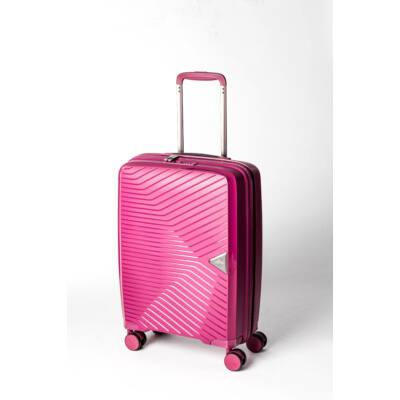 458aacb7f17b Gotthard Törhetetlen Kabin Bőrönd Pink - 4 kerekű