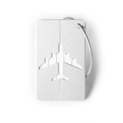 Elegáns Alumínium Bőrönd Címke Ezüst