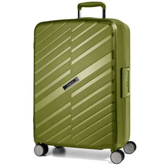 Bon Voyage Nagy bőrönd zöld