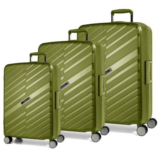 Bon Voyage Szett bőrönd zöld