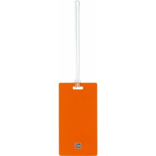 Műanyag Bőrönd Címke 2 db - Narancs