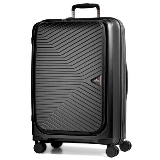 Gotthard bővíthető bőrönd Fekete