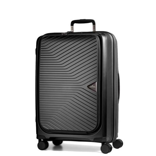 Gotthard előzsebes bőrönd Fekete