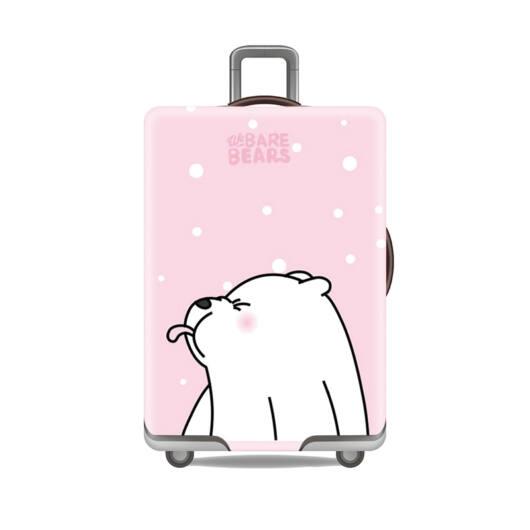 Elasztikus Bőrönd Huzat Rózsaszín Mackó