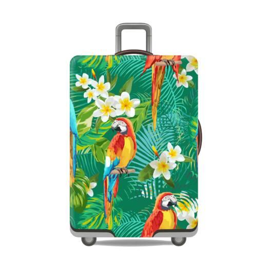 Elasztikus Bőrönd Huzat Papagájos
