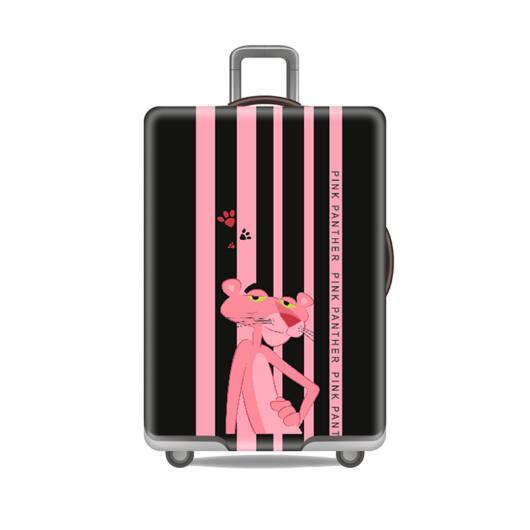 Elasztikus Bőrönd Huzat Rózsaszín Párduc
