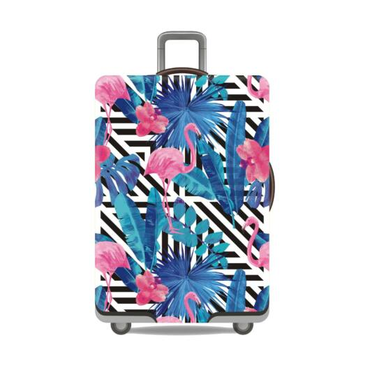 Elasztikus Bőrönd Huzat Flamingó