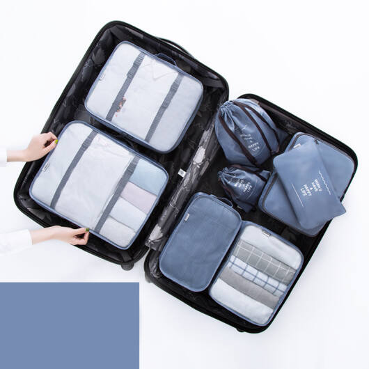 8 db-os Prémium Bőrönd Rendszerező Kék