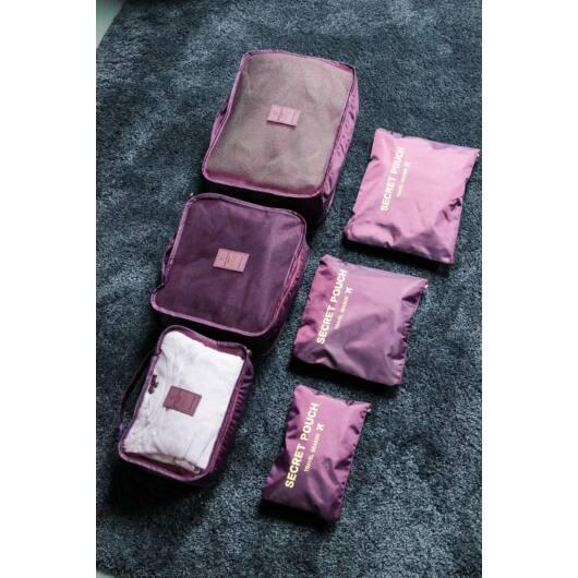 Bőrönd Rendszerező 6db-os Bordó (Nagy)