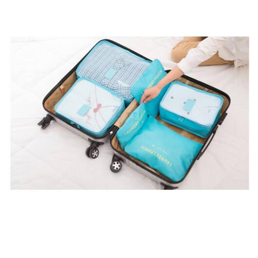 Bőrönd Rendszerező 6db-os Világoskék (Nagy)