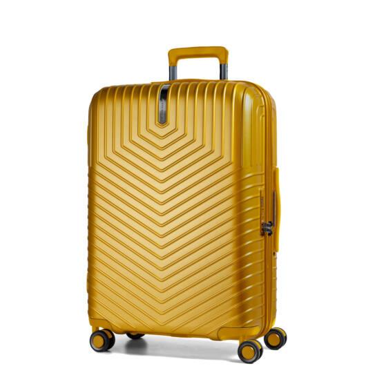 Lotus Közepes bőrönd sárga