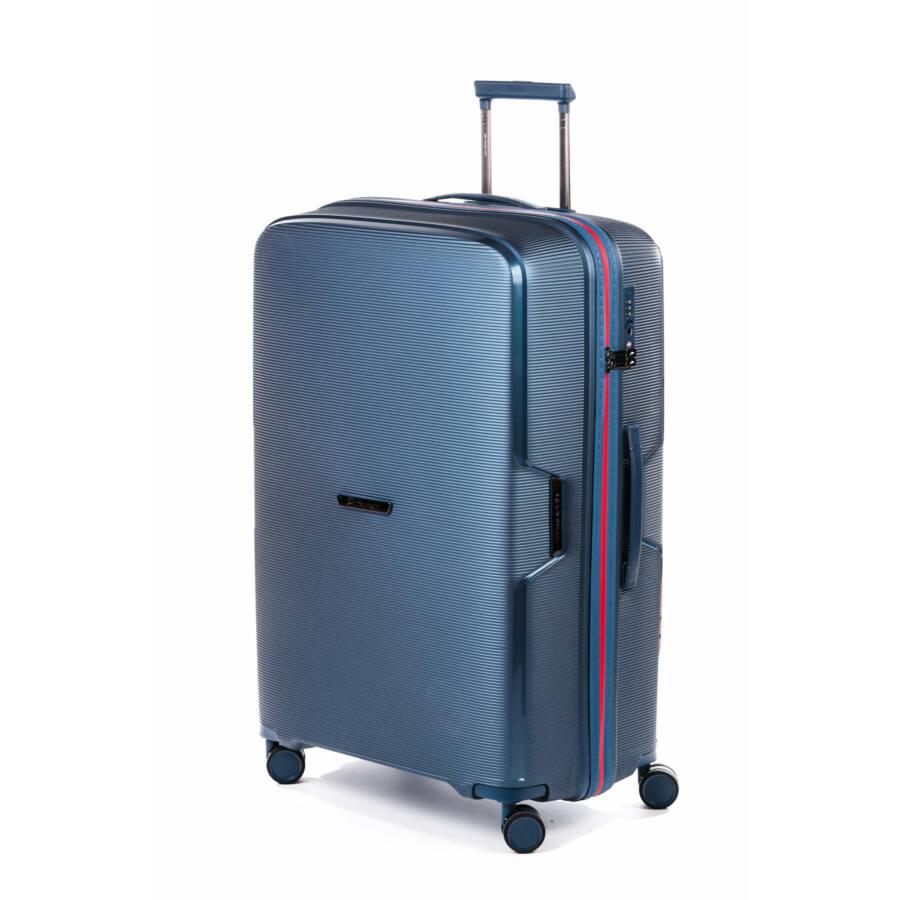 Bel Air kék bőrönd