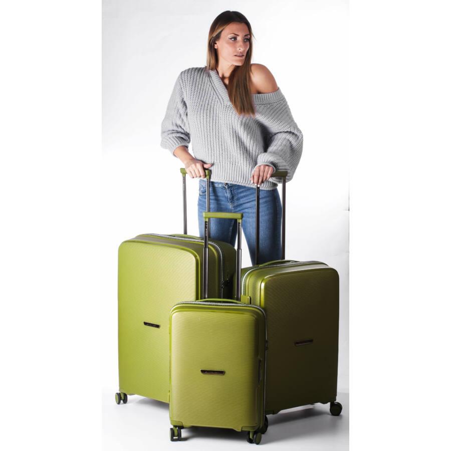 Bel Air zöld szett bőrönd