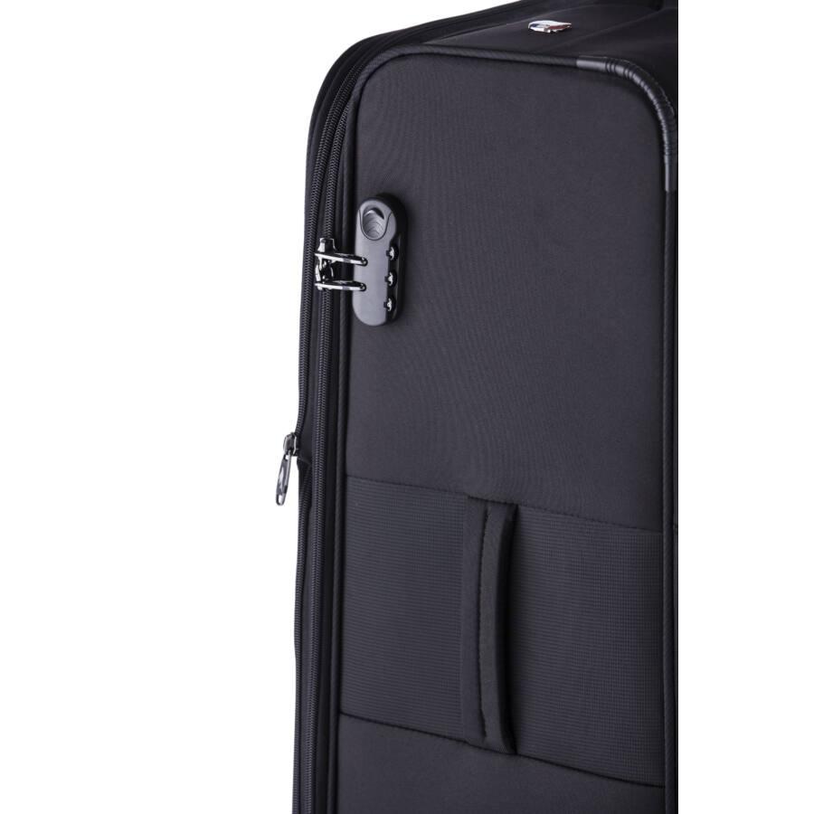 Focus Közepes bőrönd fekete