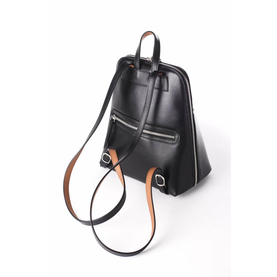 redbag bőr fekete kicsi hátizsák